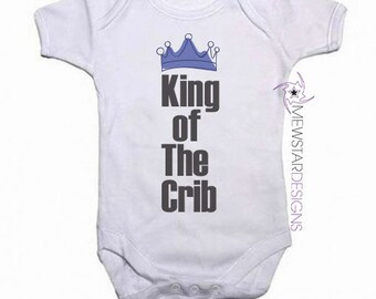 Funny Baby Bodysuit, King of Crib, Queen of Crib, Baby Boy Bodysuit, Baby Girl Bodysuit, Baby Gifts, Baby Shower, Funny Baby Bodysuit