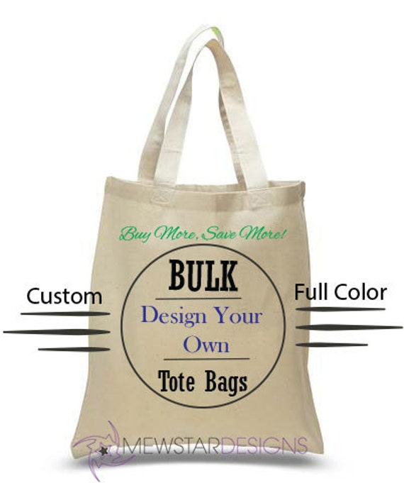 bulk tote bags personalized bags custom canvas tote bag etsy