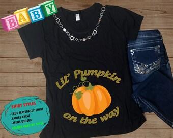 882b385e251d9 Zipper Mommy's Little Pumpkin Maternity Shirt - Halloween Maternity Shirt - Pregnancy  Reveal Shirt - Halloween Pregnancy Gift Shirt
