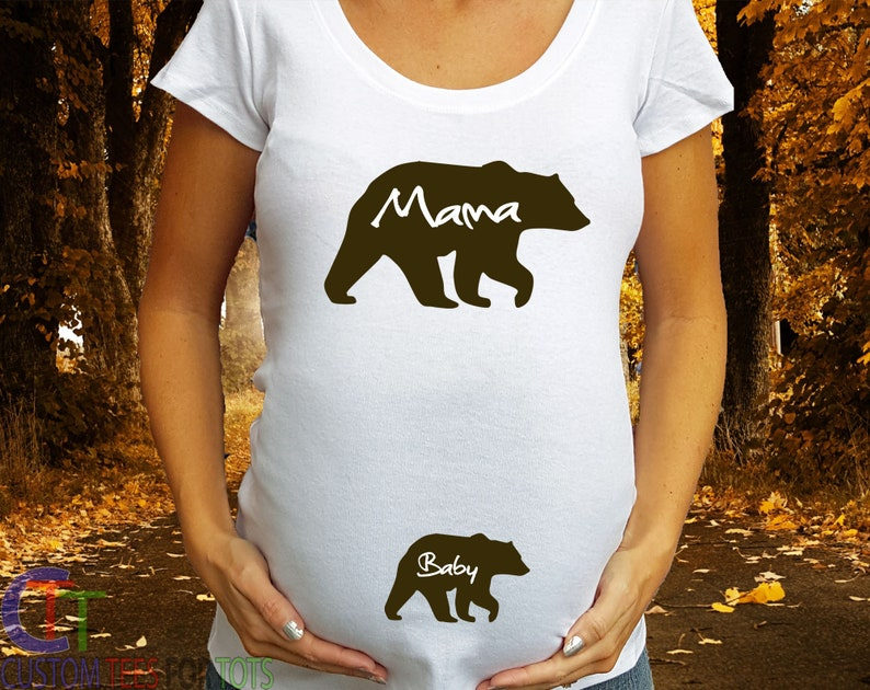 4d708a0c Mama Bear Maternity Shirt Baby Bear Bear Maternity Shirt   Etsy