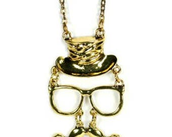 Mustache and Top Hat Jewelry NEW Pendant Chain