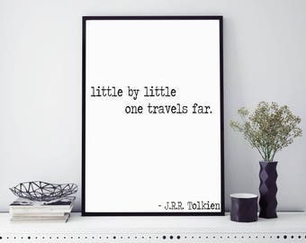 Little by little print | Wall art | Typography print | Calligraphy | Quote print | Motivational quote