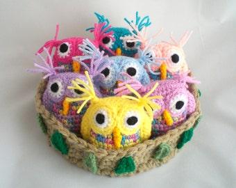 Eule Häkeln Amigurumi Owl Schnee Weiße Eule Hedwig Und Etsy