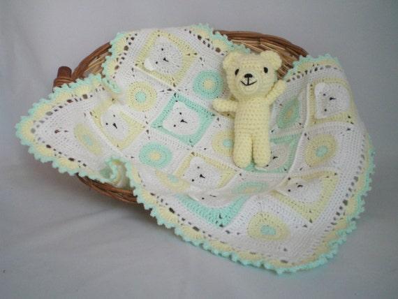 Teddybär Decke Häkeln Kinderwagen Kinderwagen Autositz Etsy