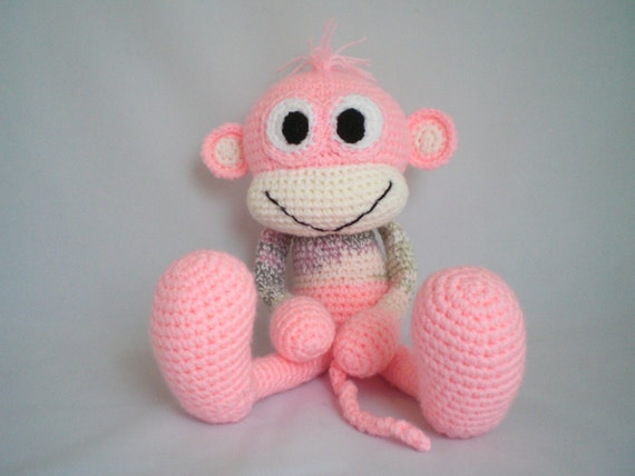 Häkeln Monkey Amigurumi Frecher Affe Kuschelig Weiches Etsy