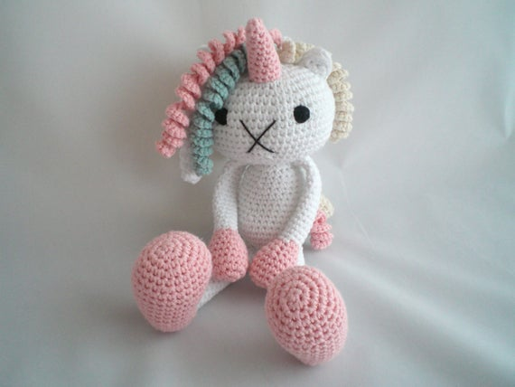 Haak Unicorn Pop Amigurumi Unicorn Haak Pluche Unicorn Toy Etsy