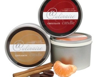 Culinaire Candle Collection, chocolate, cinnamon & clementine, 3 Full 11.5oz soy candles,  Collection Savings, gifts,5.00 Flat Rate Shipping