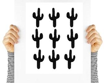 Modern art print, cactus,  digital download, modern southwest design, instant art, cactus art, cacti art, cactus print, modern decor