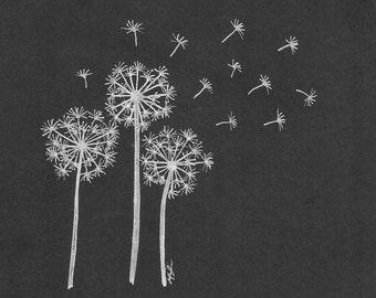 Dandelions Digital Print