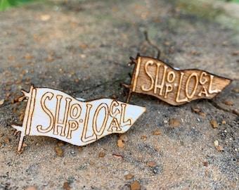Shop local wooden lapel pin - St. Louis wooden lapel pin