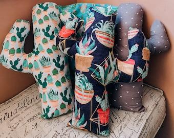 Saguaro Cactus Throw Pillow - Cactus Throw Pillow - Geometric Throw Pillow - Succulent Throw Pillow