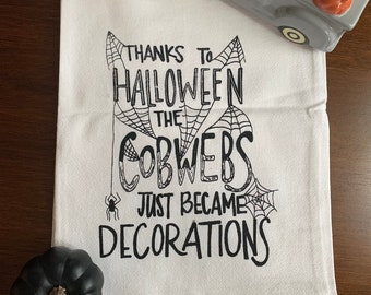 Halloween Themed Tea Towel