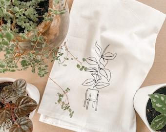 House Plant Tea Towels
