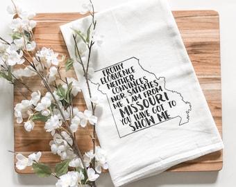 Missouri Show Me State Tea Towel