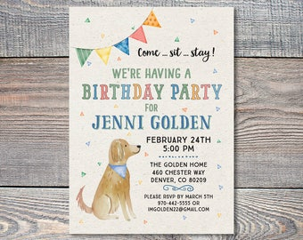 Dog invitations Etsy