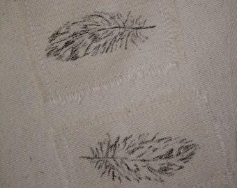 Feather Gift Bag, Reusable Cloth Gift Bag, Canvas Gift Bag