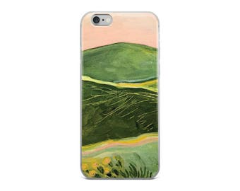 California Hills Contemporary Landscape Painting - iPhone Case for 5/5s/Se, 6/6s, 6/6s Plus Case