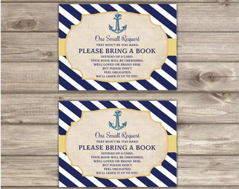 Book Request Nautical Baby Shower Inserts Navy Gold Stripes Book Insert Navy Blue Boy Anchor Vintage  sc 1 st  Etsy & Anchor paper plates | Etsy