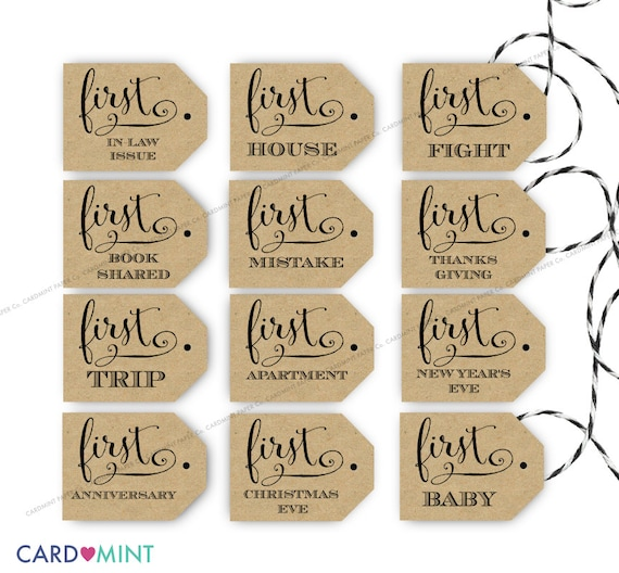 Wine Firsts Tags Wedding Marriage Tags Wine Labels Printable Etsy