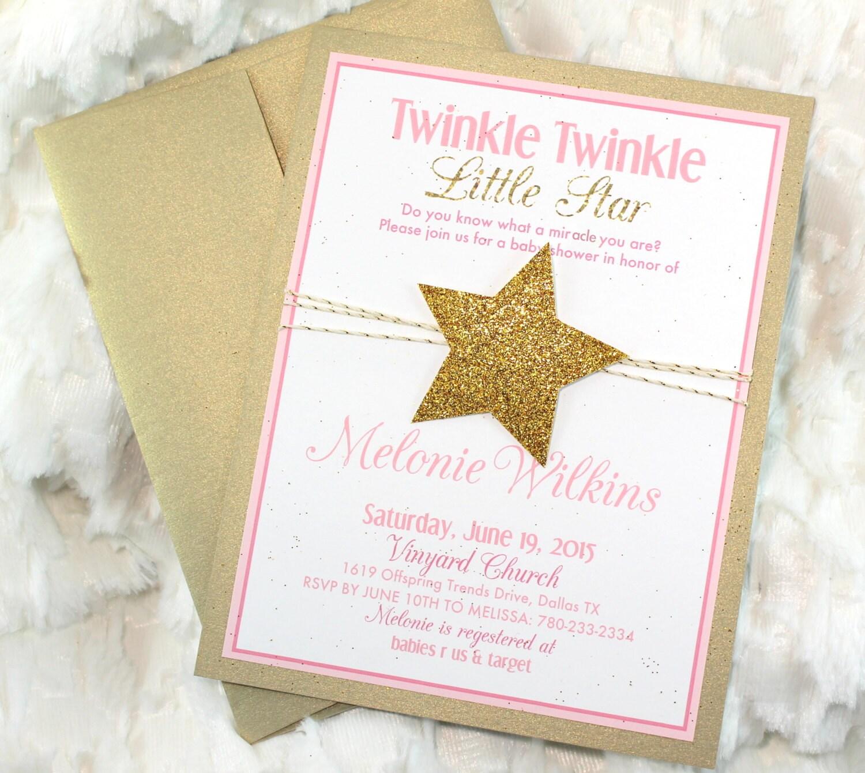 15 Printed Twinkle Twinkle Little Star Birthday Invitations | Etsy