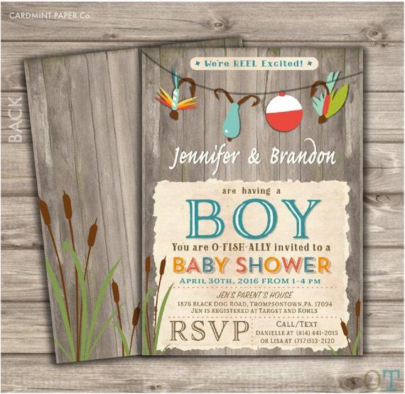 Fishing baby shower invitations boy shower its a boy etsy image 0 filmwisefo