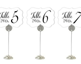 Table Numbers Paper Tables 1-20 Wedding Baby Shower Bridal Shower Table Numbers