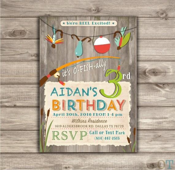 Fishing Birthday Invitations We Re Reel Excited Printable Etsy