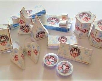 1:12th Miniature Bumper Toiletry Boxes Digital Download Kit