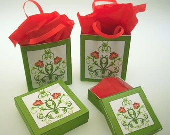 Art Nouveau Christmas Bags and Boxes Download