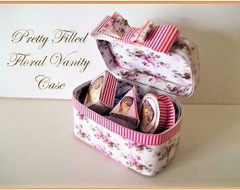 Dollhouse Miniature Vanity Case Digital Download Kit