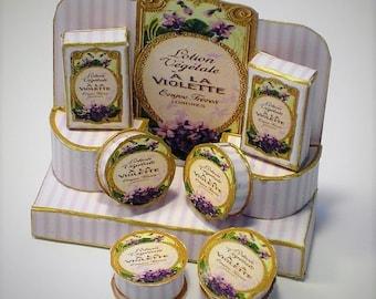 12th scale Miniature A La Violettes Display Digital Kit