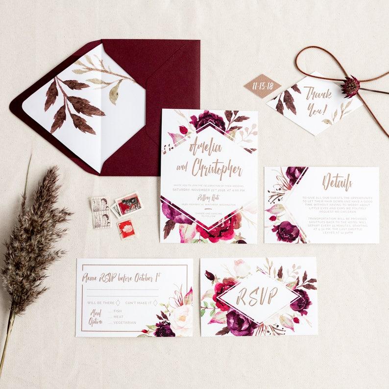 143dc3a0823f Printable Wedding Invitation Invite Details RSVP