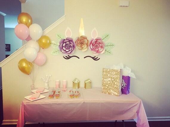 Unicorn Backdrop Display Birthday Party