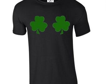 e61d2aa2f Shamrock Boobies Irish St Patricks Day Funny Tshirt Irish Paddy Top Ireland