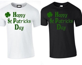 dc2e6cd54 Happy St Patricks Day Funny Tshirt Irish Paddys Top Ireland Unisex  Leprechaun