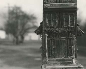 5x7 Antique Wood Mailbox: Darkroom Print