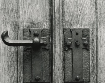 5x7 Church Door Handle: Traditional Darkroom Photo Fine Art Print