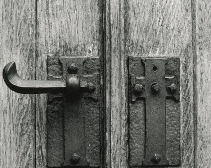 Featured listing image: 5x7 Church Door Handle: Traditional Darkroom Photo Fine Art Print