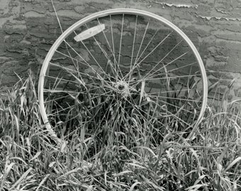 8x10 Broken Wheel Monochrome Fine Art Photo Print.
