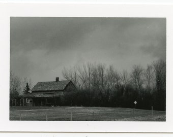 Alberta Storm Farmhouse 2 1/2 by 3 1/2 Darkroom Print