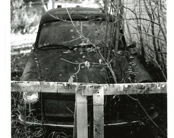 8x10 Rosebud's Abandoned Car: 8X10 Resin Coated Fine Art Photo Print Pearl Finish