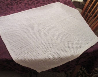 Hand Woven White Cotton Blanket Wrap