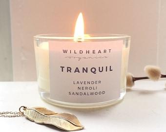 Soy Aromatherapy Candle -   Lavender, Neroli & Sandalwood Vegan Natural Candle