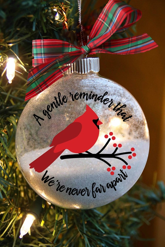 Daughter remembrance Christmas ornament w cardinal to remember a child passed on