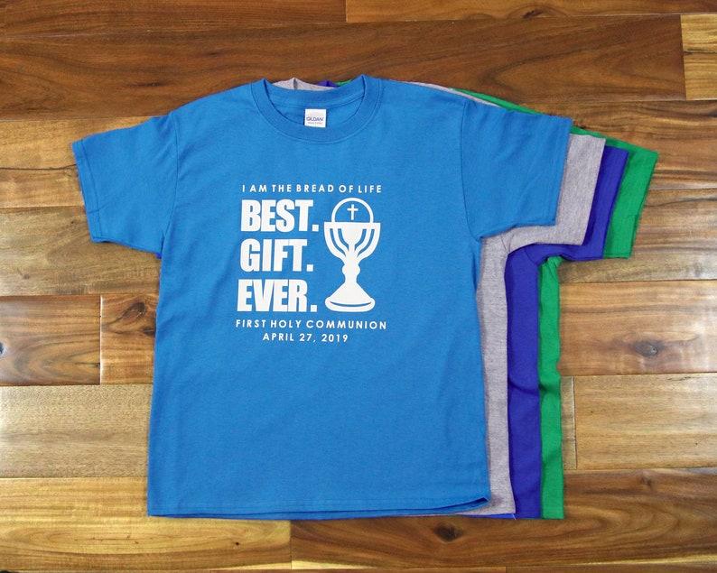 First Communion Gift for Boys Custom Catholic Tee for Kids Best Gift Ever First Communion T-Shirt