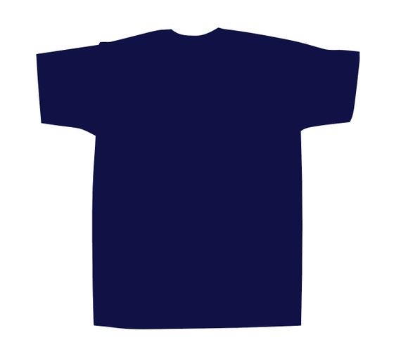 Hand dip dyed indigo tshirt