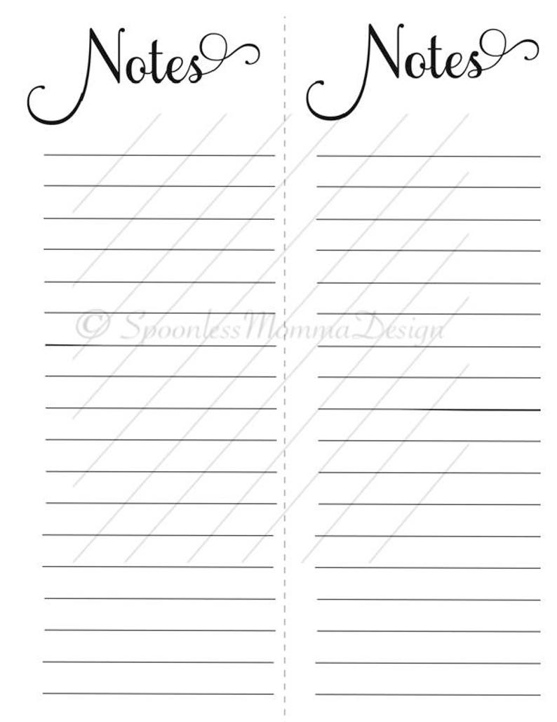 photo about Printable Notes Page known as Planner Website page- Protected Notes, Planner Printable, Planner Notice Website page, Content Planner Observe Web site, Printable Planner Web site, Disc Planner Printable