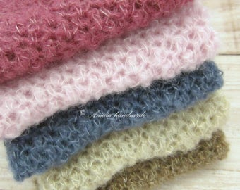 Newborn Wraps for Photography, Newborn photo prop, Crochet wrap - made to order, Multiple colors avalible, Very soft alpaca wool