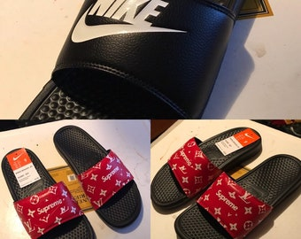 Custom Louis Vuitton x Supreme Slides 5e787575c81