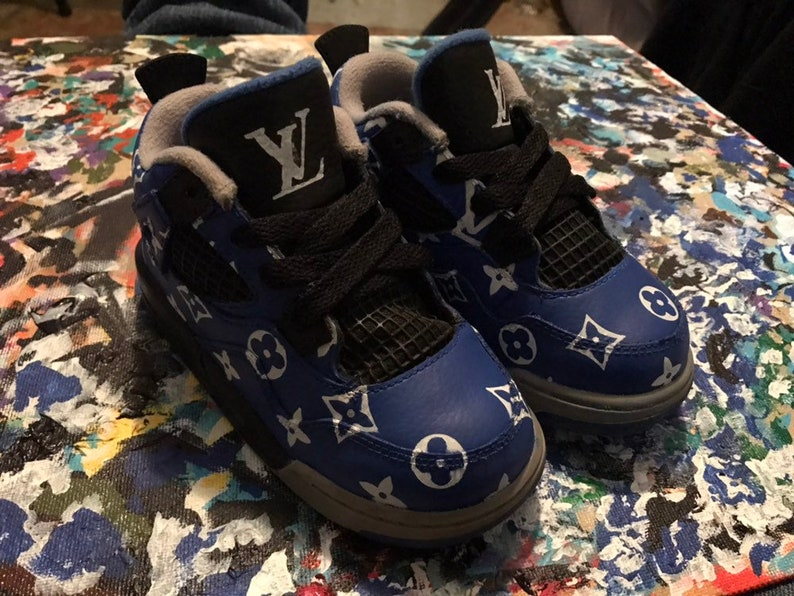 e80dc103c0d08f Custom Louis Vuitton Jordan 4s